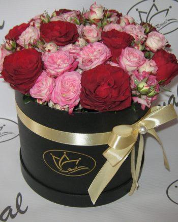 Box of flowers sa mini ružom