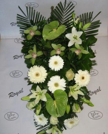 Suza sa anturijumom, ljiljanom, orhidejom i gerberom 432