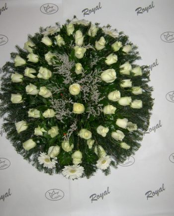 Venac sa ružom i gerberom 438