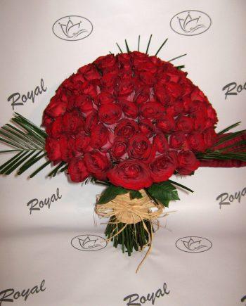 Buket sa 101 crvenom ružom 444