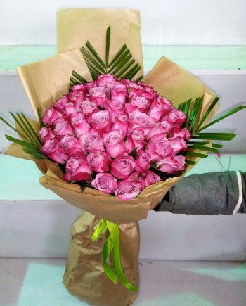 Buket sa pink ružom 480