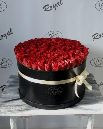 Box of flowers sa 101 ružom 485