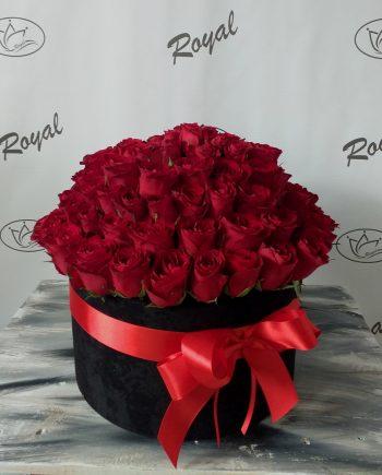 Box of flowers sa 101 ružom 487