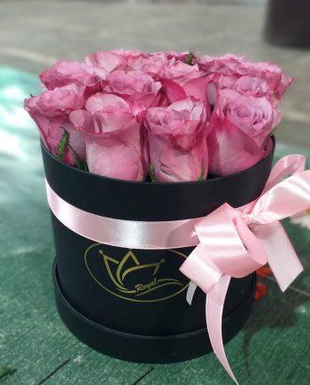 Box of flowers sa roze ružom 496