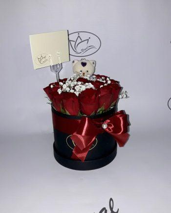 Box of flowers sa ružom i medom 541