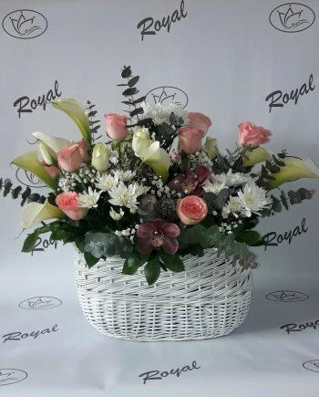Korpa sa kalom, ružom, orhidejom i hrizantemom 543