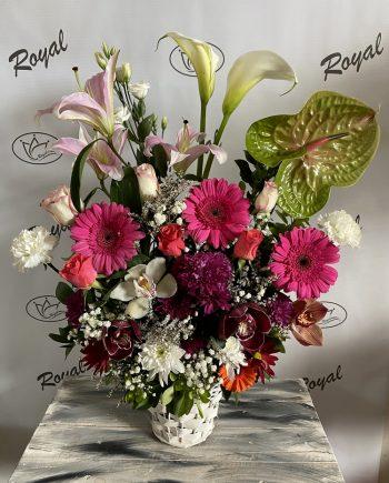 Korpa cvetni mix 550