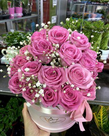 Box of flowers sa roze ružom 570